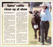 Spies' cattle clean up at the show -